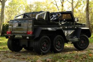 Masinuta electrica copii Mercedes G63 6x6 270W, neagra [4]