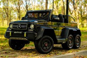 Masinuta electrica Mercedes G63 6x6 270W DELUXE #Negru1