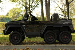 Masinuta electrica copii Mercedes G63 6x6 270W, neagra [6]