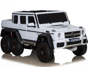 Masinuta electrica Mercedes G63 6x6 Premium cu 4 motoare #ALB0