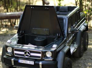 Masinuta electrica Mercedes G63 6x6 Premium cu 4 motoare #Negru9