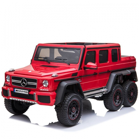 Mercedes G63 6x6 180W 12V echipare premium rosie [0]