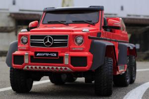 Masinuta electrica Mercedes G63 6x6 Premium cu 6 motoare #Rosu6