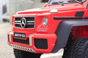 Masinuta electrica Mercedes G63 6x6 Premium cu 6 motoare #Rosu13