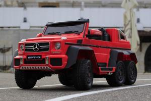 Masinuta electrica Mercedes G63 6x6 Premium cu 6 motoare #Rosu5