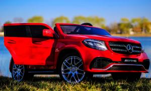 Masinuta electrica Mercedes GLS63 AMG 2x4 12V STANDARD #Rosu1