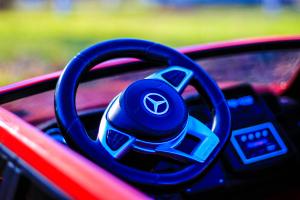 Masinuta electrica Mercedes GLS63 AMG 2x4 12V STANDARD #Rosu8