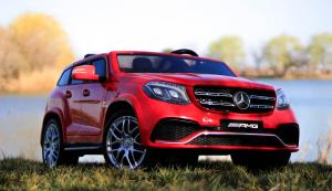 Masinuta electrica Mercedes GLS63 AMG 4x4 24V STANDARD #Rosu3