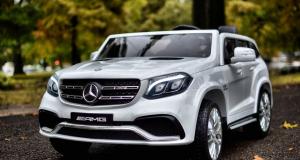 Masinuta electrica Mercedes GLS63 AMG 4x4 PREMIUM 24V #Alb2