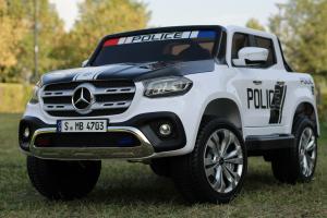 Masinuta electrica Mercedes POLICE X-Class 4x4 STANDARD #Alb14