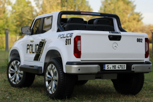 Masinuta electrica Mercedes POLICE X-Class 4x4 STANDARD #Alb3