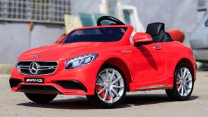 Masinuta electrica pentru copii Mercedes rosie model S63 [1]