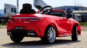 Masinuta electrica pentru copii Mercedes rosie model S63 [3]
