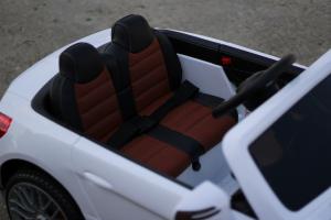 Masinuta electrica Mercedes SL65 AMG CU SCAUN TAPITAT #Alb5