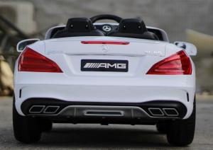 Masinuta electrica Mercedes SL65 AMG CU SCAUN TAPITAT #Alb13