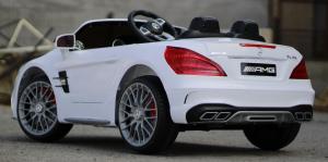 Masinuta electrica Mercedes SL65 AMG CU SCAUN TAPITAT #Alb14