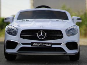 Masinuta electrica Mercedes SL65 AMG CU SCAUN TAPITAT #Alb4