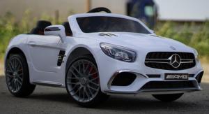 Masinuta electrica Mercedes SL65 AMG CU SCAUN TAPITAT #Alb2