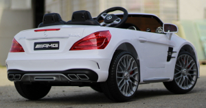 Masinuta electrica Mercedes SL65 AMG CU SCAUN TAPITAT #Alb15
