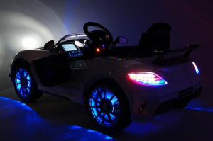 Masinuta electrica Mercedes SLS STANDARD 2x 25W 12V #Alb10