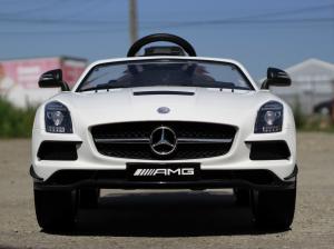Masinuta electrica Mercedes SLS STANDARD 2x 25W 12V #Alb1