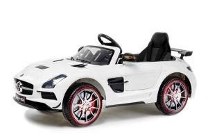 Masinuta electrica Mercedes SLS STANDARD 2x 25W 12V #Alb0