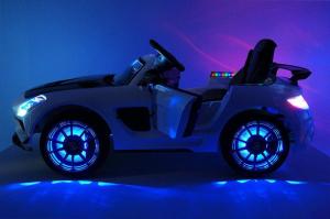 Masinuta electrica Mercedes SLS STANDARD 2x 25W 12V #Alb9