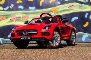 Masinuta electrica Mercedes SLS STANDARD 2x 25W 12V # Rosu2