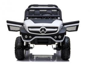 Masinuta electrica Mercedes UNIMOG 4x4 PREMIUM #Alb5