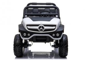 Masinuta electrica Mercedes UNIMOG 4x4 PREMIUM #Alb7