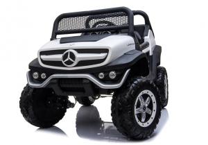 Masinuta electrica Mercedes UNIMOG 4x4 PREMIUM #Alb4