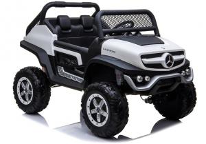 Masinuta electrica Mercedes UNIMOG 4x4 PREMIUM #Alb8