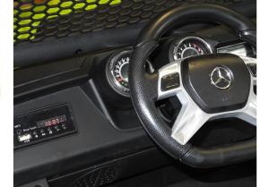 Masinuta electrica Mercedes UNIMOG 4x4 PREMIUM #Alb13