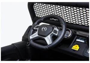Masinuta electrica Mercedes UNIMOG 4x4 PREMIUM #Alb12