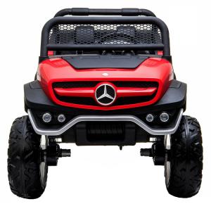 Masinuta electrica Mercedes UNIMOG 4x4 PREMIUM #Rosu0