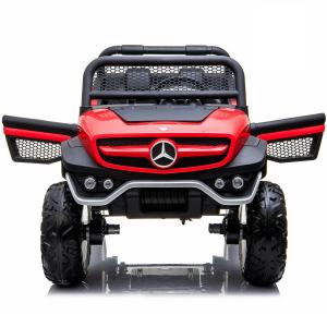 Masinuta electrica Mercedes UNIMOG 4x4 PREMIUM #Rosu6