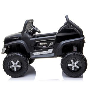 Masinuta electrica Mercedes UNIMOG 4x4 PREMIUM #Negru1
