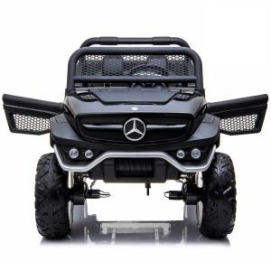 Masinuta electrica Mercedes UNIMOG 4x4 PREMIUM #Negru4