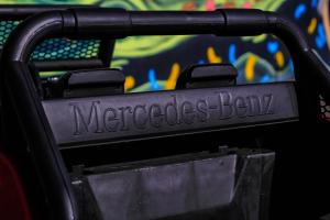 Masinuta electrica Mercedes UNIMOG STANDARD 2x45W 12V #Rosu8