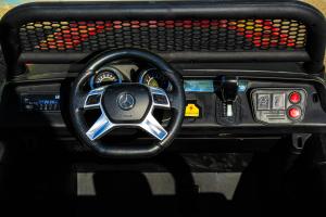 Masinuta electrica Mercedes UNIMOG STANDARD 2x45W 12V #Rosu3