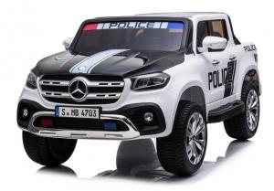 Masinuta electrica Mercedes POLICE X-Class 4x4 PREMIUM #Alb2