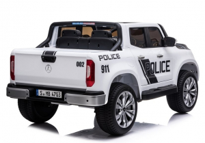 Masinuta electrica Mercedes POLICE X-Class 4x4 PREMIUM #Alb5