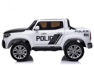 Masinuta electrica Mercedes POLICE X-Class 4x4 PREMIUM #Alb3