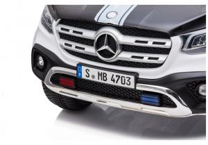 Masinuta electrica Mercedes POLICE X-Class 4x4 PREMIUM #Alb9