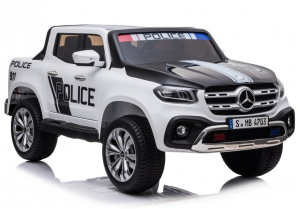 Masinuta electrica Mercedes POLICE X-Class 4x4 PREMIUM #Alb0