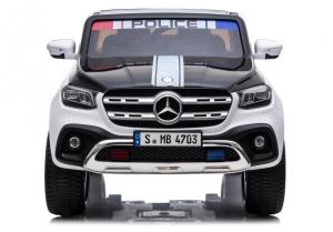 Masinuta electrica Mercedes POLICE X-Class 4x4 PREMIUM #Alb1