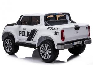 Masinuta electrica Mercedes POLICE X-Class 4x4 PREMIUM #Alb4
