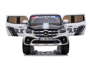 Masinuta electrica Mercedes POLICE X-Class 4x4 PREMIUM #Alb6