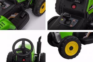 Tractoras electric BJ-611 cu remorca si telecomanda STANDARD #Verde7