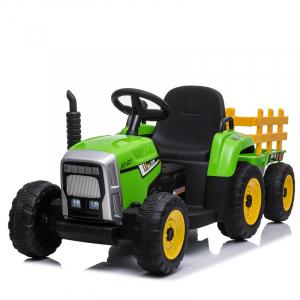 Tractoras electric BJ-611 cu remorca si telecomanda STANDARD #Verde0